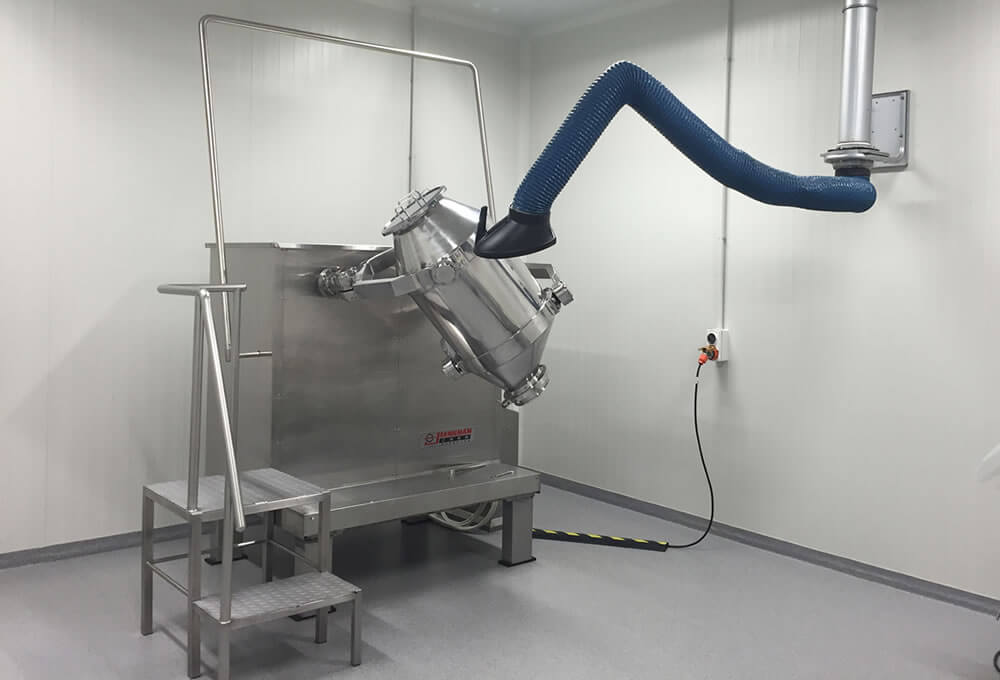 Fume arm in use for pharmaceutical dust extraction 3