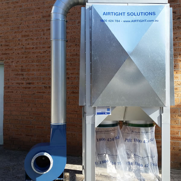 T-500 dust collector with outdoor kit fitted 3