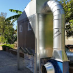 T1000 dust collector with outdoor kit fitted