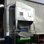 T1000 dust collector with rotary valve and outdoor kit