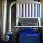 T1000 dust collector with rotary valve kit fitted