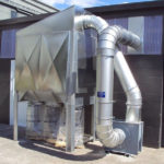 T750 dust collector with outdoor kit fitted