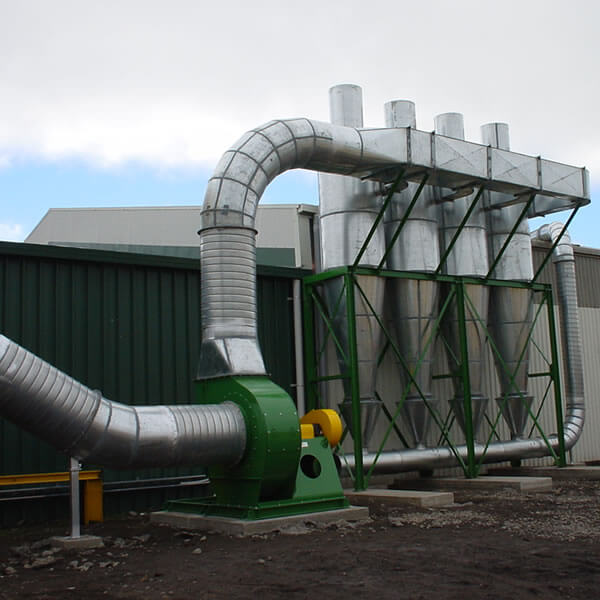 Dust extraction system cyclone array