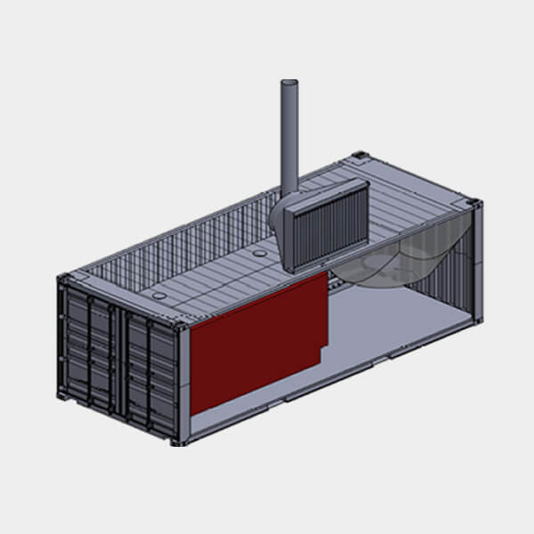 Containerised Wood Waste Fired Heat Plant