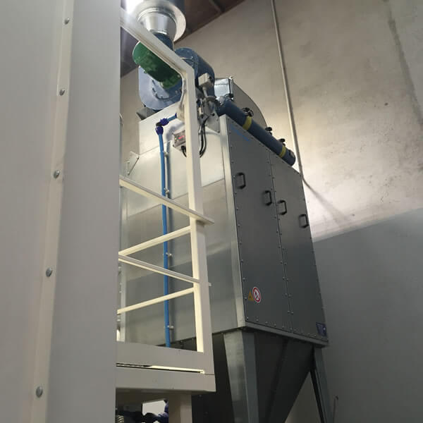 FMC dust collector at South Island Seeds