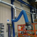 Fume arm on welding application