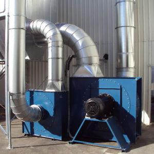 Hume door industrial fans on dust extraction system