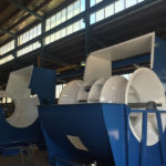 Large industrial ventilation fans for the dairy industry